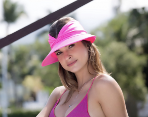 Viseira Turbante Rosa Pink